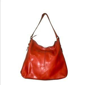 Francesco Biasia orange leather bag